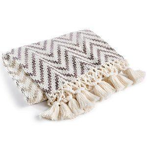 Lacourte Cotton Ombré Chevron Stripe 50x60 Throw
